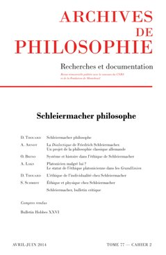 archives de philosophie