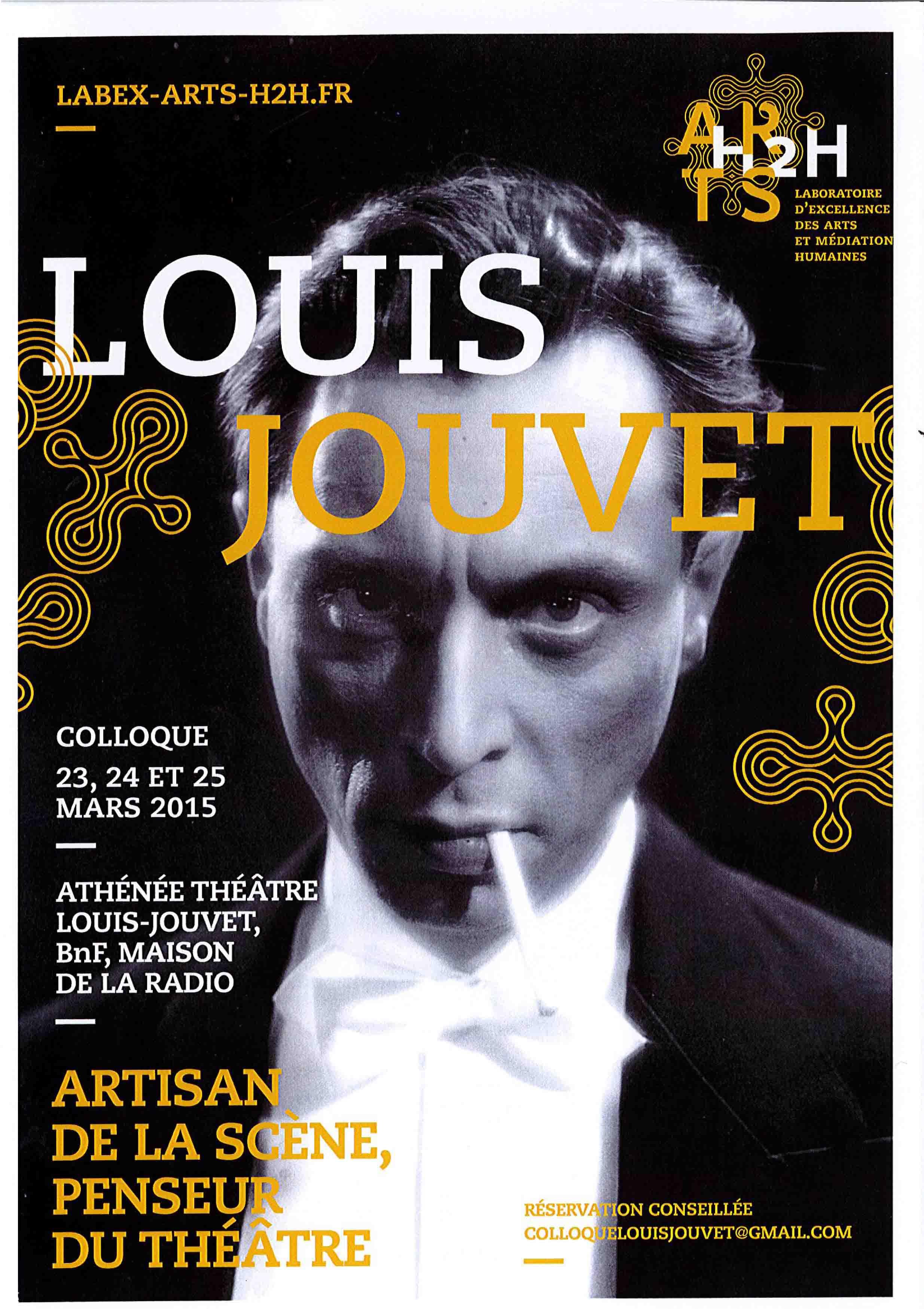 Affiche Louis Jouvet_colloque 23,24 et 25 mars 2015